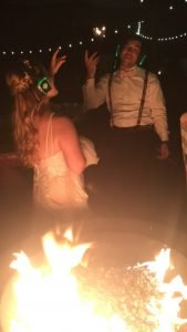 After wedding silent disco party