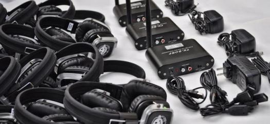 Your rental price includes all three transmitters, audio cables, adapters and shipping both ways.
