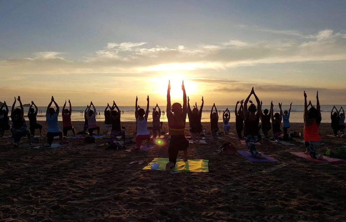 Covid safe socially distanced Silent Disco Yoga UK