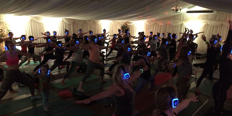 Silent Disco Yoga the biggest in the uk