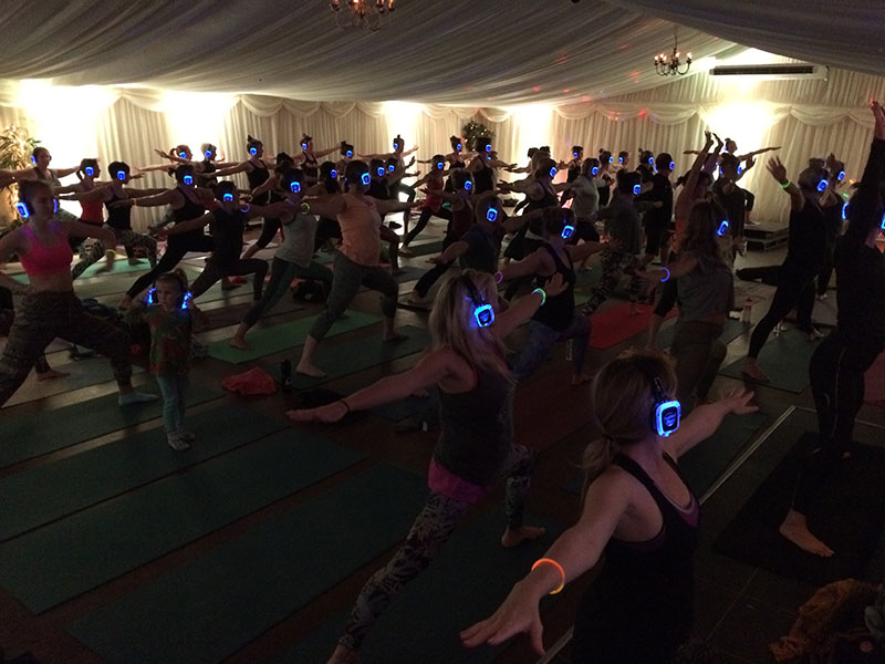 Silent Disco Yoga largest in the UK
