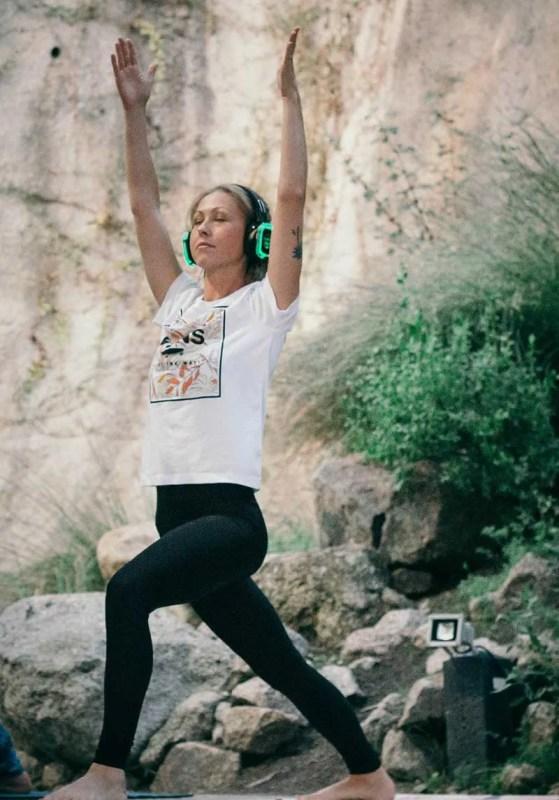 Silent Disco Yoga the Eden Project Image