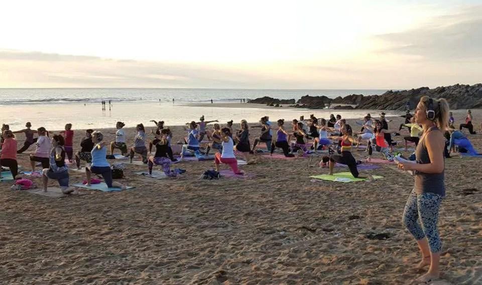 covid-19 safe silent disco yoga