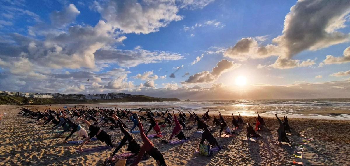 Silent Disco Yoga Covid Safe Fistral Beach