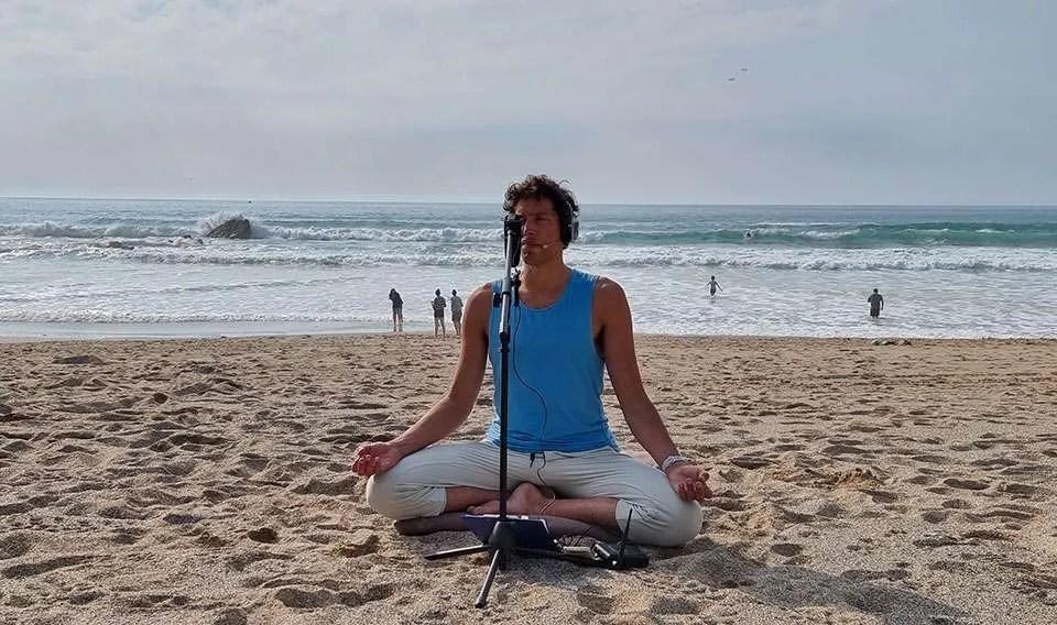 beach meditation newquay cornwall