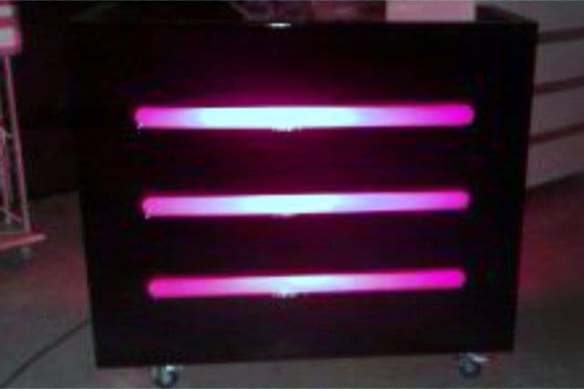 DJ booth houten meubel zwart met led