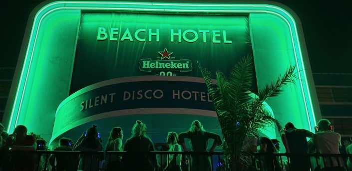 Heineken silent disco beach hotel
