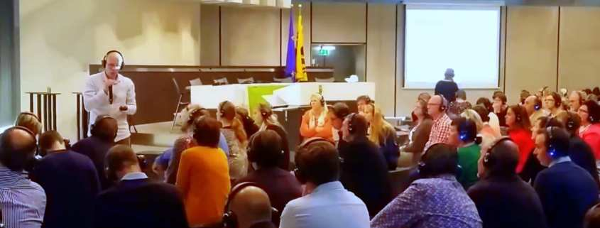 In Vlaams parlement te gast bij onderwijs workshop door Flanders Syngergy