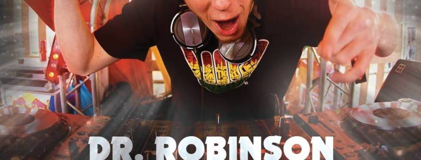 Dr. Robinson silent percussion dance video DJ energieke live show