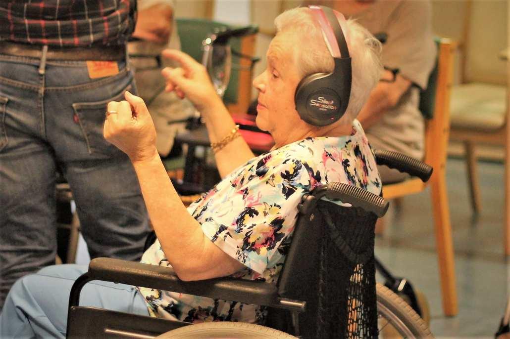 silent disco rolstoelers
