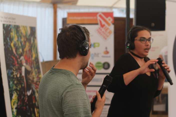 silent lezing Besiendershuijs zomerfeesten Nijmegen - SilentDJ.com silent disco events