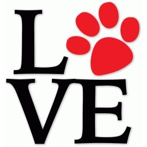 Download Silhouette Design Store - View Design #73351: dog paw love