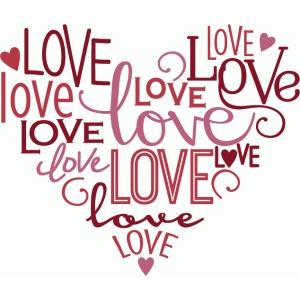 Silhouette Design Store View Design 76491 Love Heart