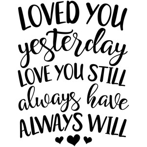 Download Silhouette Design Store - View Design #194212: loved you ...