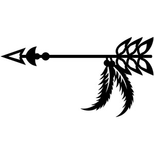 Silhouette Design Store View Design 151808 Tribal Arrow