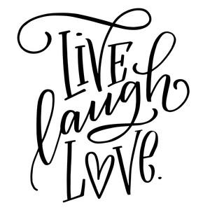 Download Silhouette Design Store - View Design #218499: live laugh love