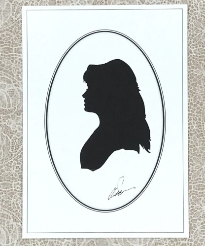 Head of a girl in silhouette