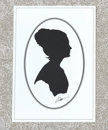 Head of a woman in silhouette