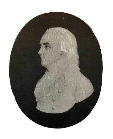 Head of a young Georgian man facing left