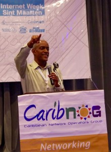 CAPTION: Albert Daniels, Senior Manager of Stakeholder Engagement for the Caribbean at the Internet Corporation for Assigned Names and Numbers delivers remarks at the organisation's LAC-I-Roadshow, at Sonesta Great Bay Resort, Philipsburg, Sint Maarten, October 24, 2016.