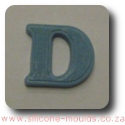 Alphabet Silicone Mould Letter D