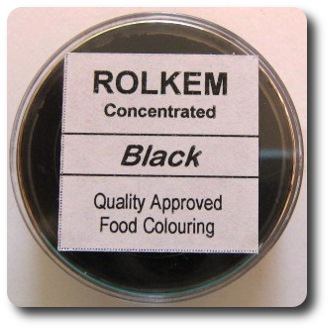 Concentrated Black Rolkem Food Colorant