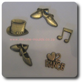 Dance Set 1 Silicone Mould for Cake Decorating