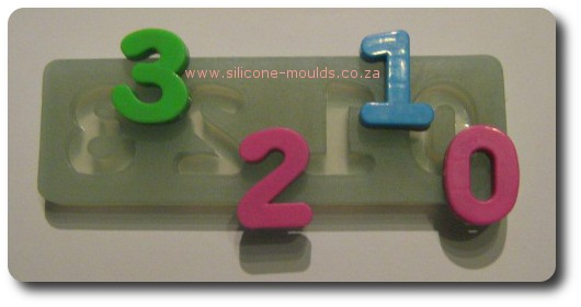 Number Set in Silicone Moulds 1