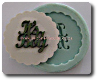 Its a Boy Silicone Mold for Gumpaste