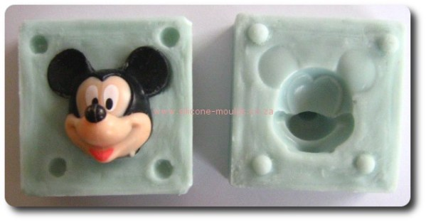 3 D MiCkey Face Silicone Mold