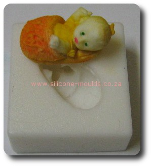 Mini Baby in Basket silicone mould