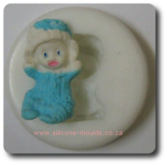 Baby with Hat silicone mold for sugar craft