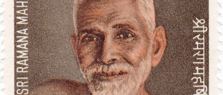 Ramana Maharshi on a 1971 stamp of India