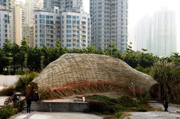 Bamboo pavilion in the Shenzhen Biennale 2009