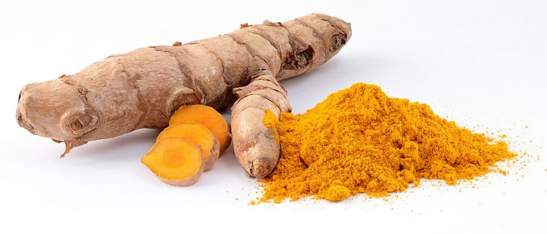 Turmeric (Curcuma longa): fresh rhizome and powder.