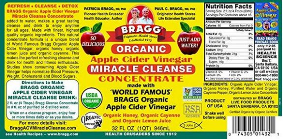 Organic, Raw, Unfiltered, with the 'Mother' (Naturally Gluten Free - Certified Non-GMO)