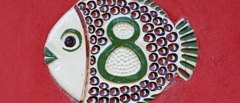 House Number, Eight, Fish, Mosaic, 8, Number, Digit and Lions Gate Portal Opens 8/8