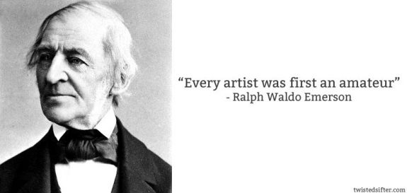 Ralph Waldo Emerson - create art