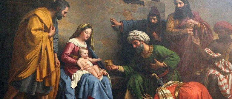 Jesus Christ Nativity Scene, Adoration of the Magi, Saint Etienne du Mont Church, Paris