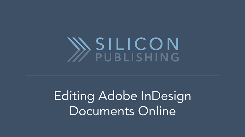 Editing Adobe InDesign files online