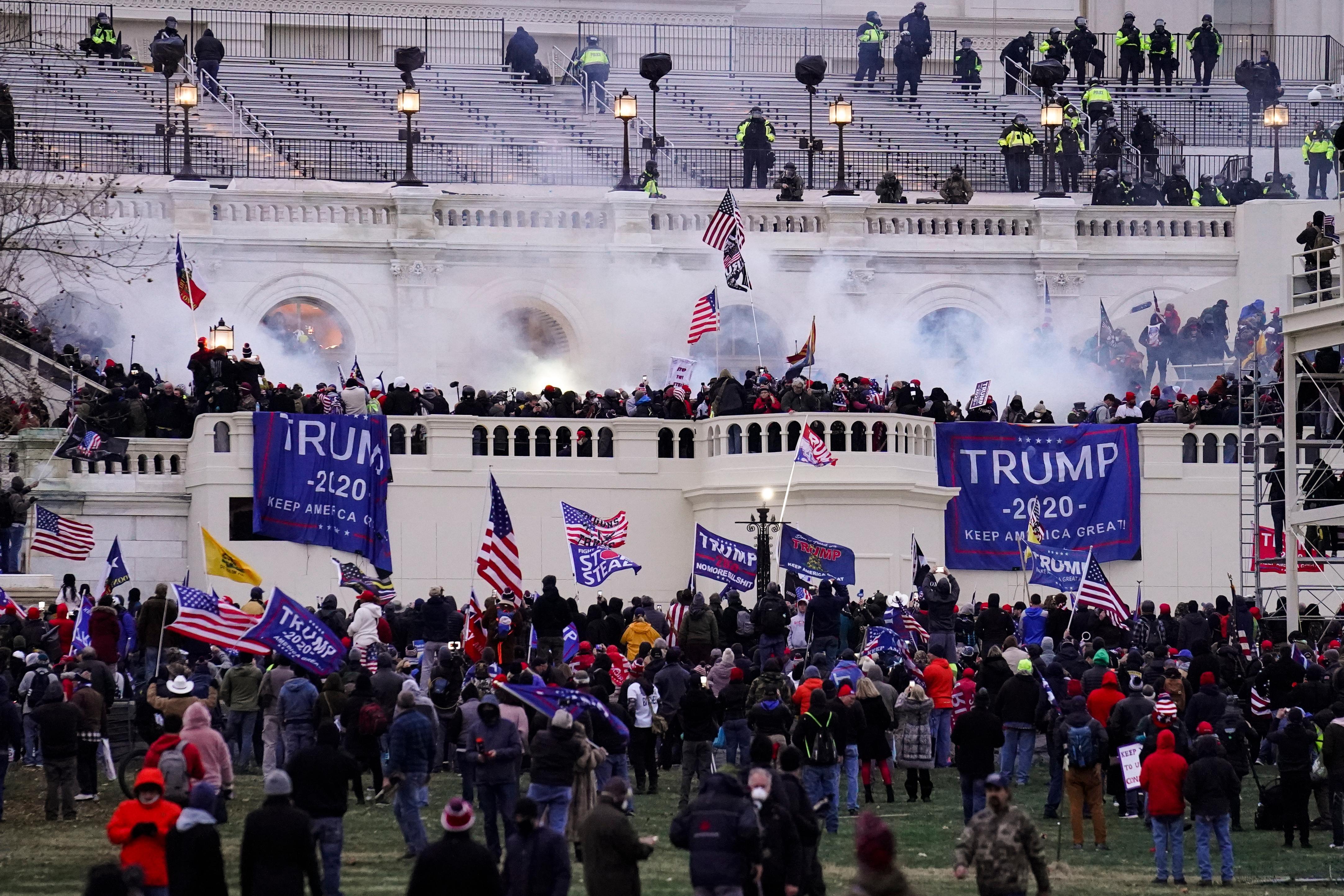 Facebook Twitter Ban Trump After Violent Mob Storms Capitol Critics Demand More Path Of Ex