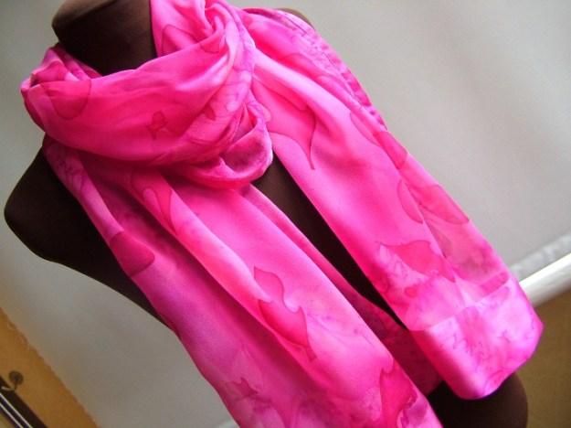 Chiffon fuchsia scarf 2
