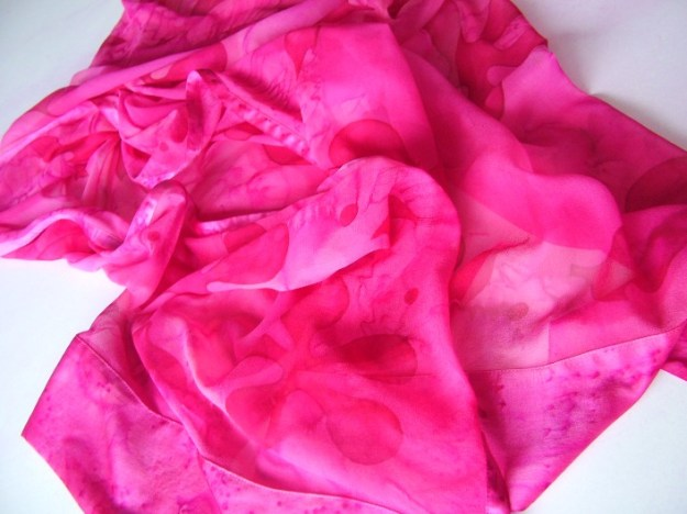 Satin and chiffon 1