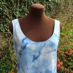 hand painted crepe de chine women's clothing silk clothing silk top blue fionastolze silkandart