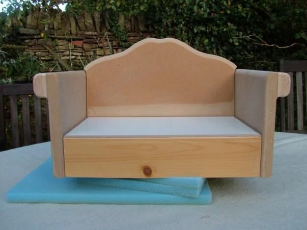 Double sofa silkandart dolls furniture