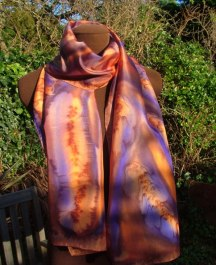 Gemstone inspired crepe de chine silk
