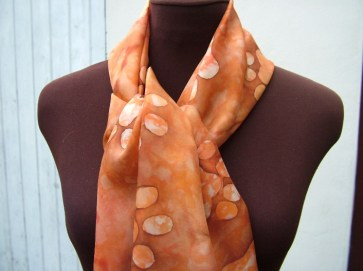 hand painted silk scarf kitten paw print fionastolze silkandart