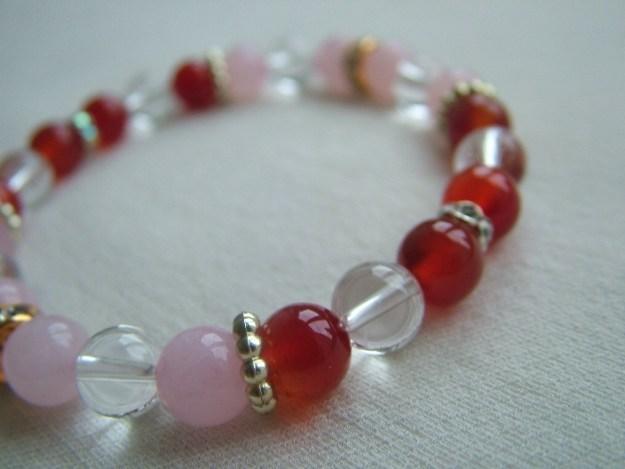 rose quartz bracelet fionastolze silkandart