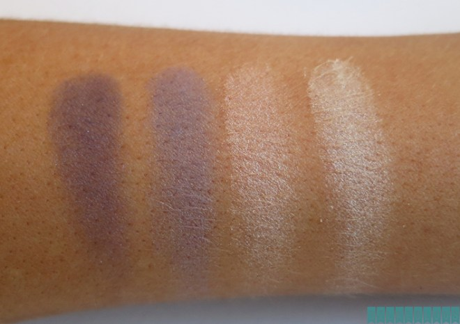 NYC Quattro Eye Shadow 821 - NY Tribute Swatches op mijn arm - zonder flits