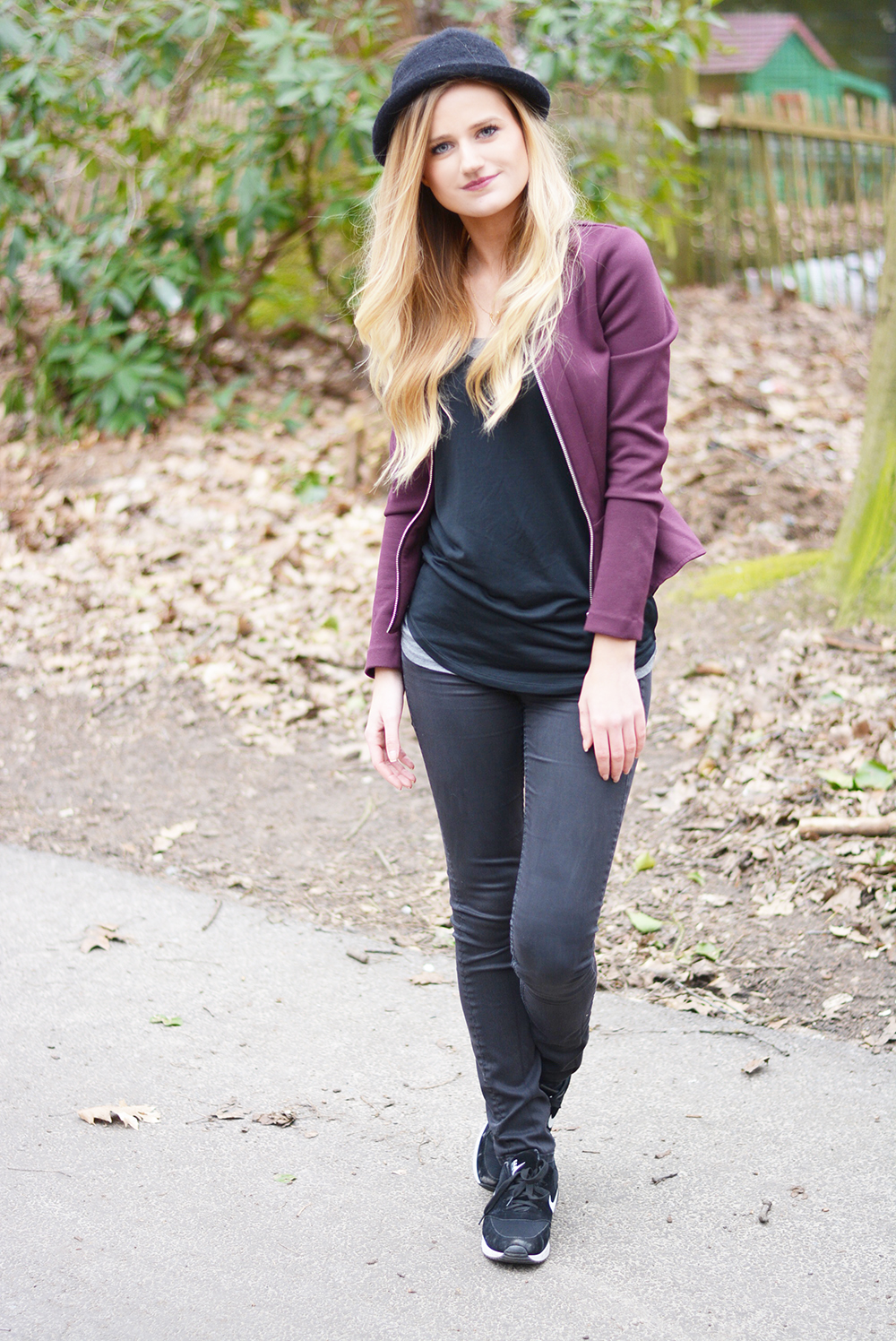 OOTD: Purple Peplum